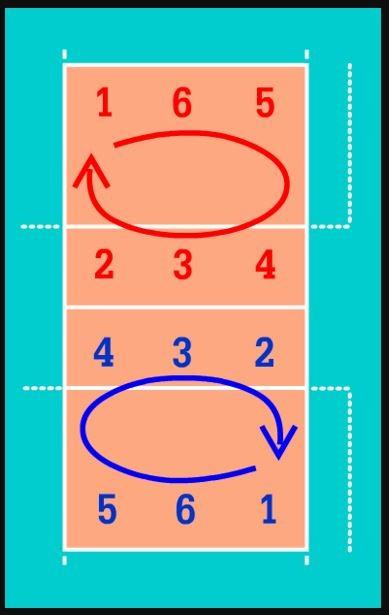 posiciones de voleibol en la cancha